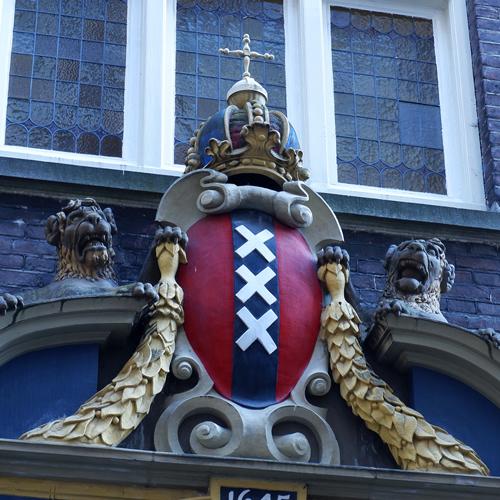 Het logo van de stad Amsterdam