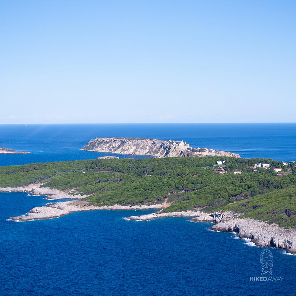 Uitzicht op de Tremitische eilanden