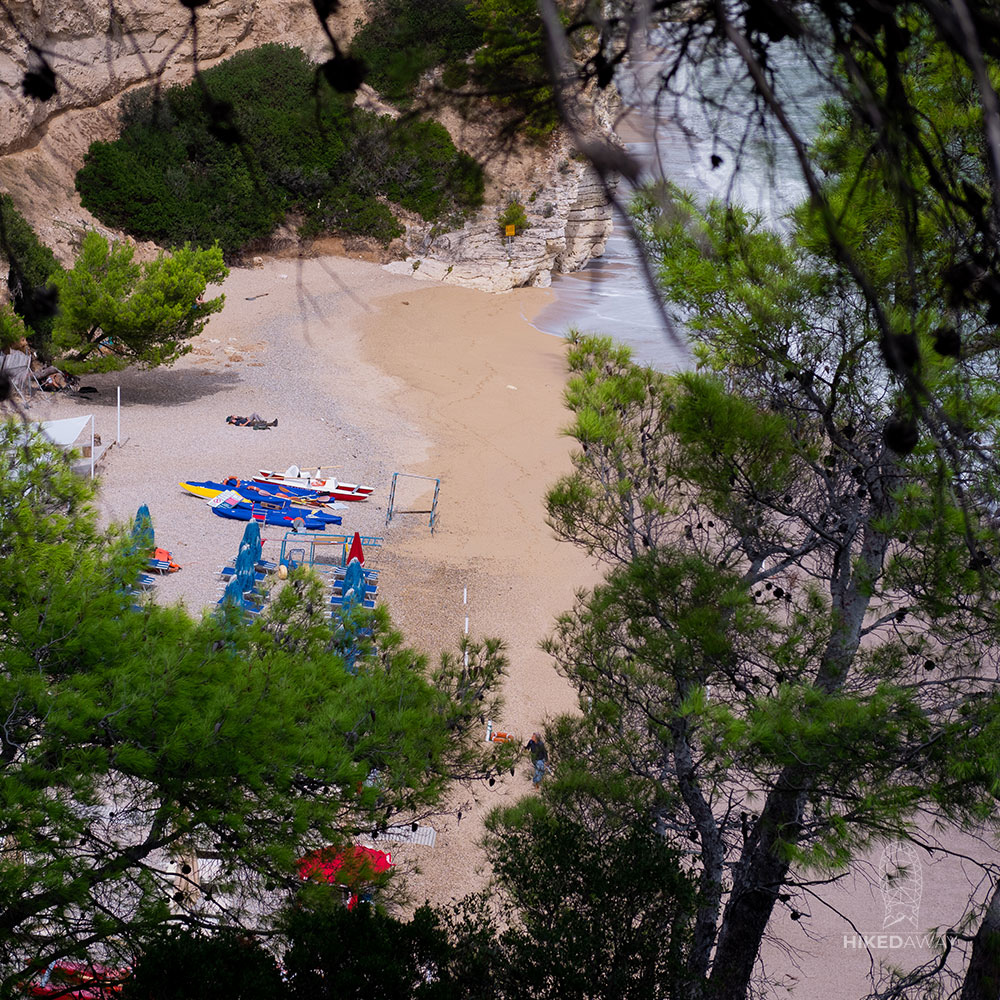 Uitzicht op Spiaggia di Vignanotica